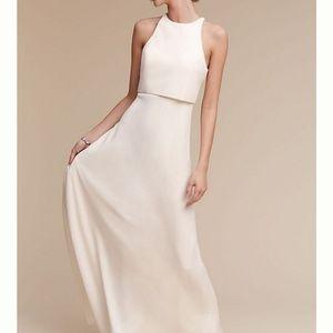 Off White Opened Back Long Dress Size 4